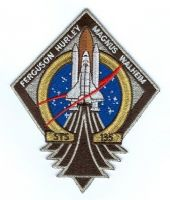 NASA STS-135 Atlantis Embroidered Mission Patch - Final Shuttle Flight